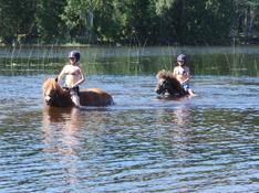 ridläger, bad med hästar