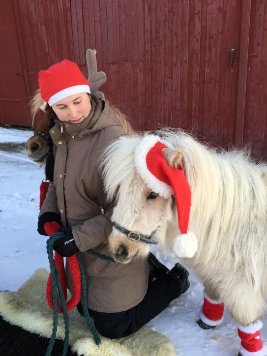 Slofallet en julbild fina Amanda och Lilla My