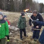 Förberedelse för brsaständning av Umeå soutkår