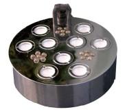 13. Rökmaskin med nio utblås och LED