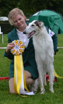 "Best in Show 3 at ""Skokloster summer show"" 13 months old"