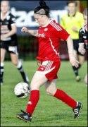 """""""Angen"""", ifjol i Sund, gjorde två mål för sin nya klubb i VC."""