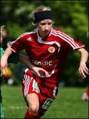 Maria Vestberg gjorde två mål på sin gamla klubb.