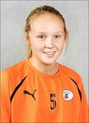 15-åriga Wilma Wärulf gjorde SFK:s första mål och visade upp en känslig vänsterfot.