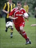 Johan Sjölén, två mål och bra spel. Foto: Andreas Ig-nell.