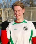 Daniel Johansson gjorde matchens enda mål sedan han rundat Joakim Grannas och rullat in bollen. Arkivfoto: Janne Pehrsson, Lokalfot-bollen.nu