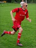 Oskar de Wahl sprang fort, sprang mycket och sprang rätt. Foto: Janne Pehrsson, Lokal-fotbollen.nu.