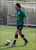 """Brehon """"Lapi"""" Be-risha svarade för ett hattrick när Sidsjö-Böle krossade stackars Alnö 2 med 9-0."""
