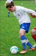Kalle Bergström knorrade in en hörna direkt i mål.