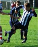 Joakim Wittek kvitterade till 1-1. Arkivbild: Janne Pehrsson, Lokalfotbollen.nu.