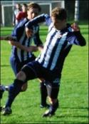 Joakim Wittek blev stor matchhjälte för Kovland när han satte 2-1 på övertid. Arkivtfoto. JP