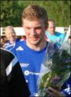 Daniel Boström fick inga blom-mor men gjorde två mål istället.