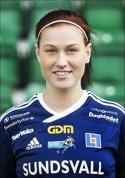 Jenny Nordenberg gjorde hattrick för SDFF i den andra halvleken i 4-0-segern mot Kiruna.