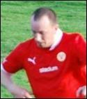 Stefan Näslund använde huvudet med kvarten kvar.