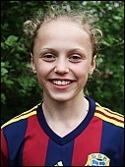 Olivia Wänglund inledde målskyttet tidigt när SFK 2 vann med hela 6-2 borta mot serietvåan Team Hudik.