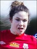 Amanda Bärj toppar skytteligan men är ett jagat villebråd.