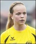 Wilma Larsson, ny-förvärvet från Kors-krogen, gjode hat-tirck och fixade en straffsprark. Foto: Rikard Bäckman