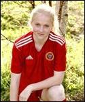 Paulina Byström gjorde 1-0 för Alnö mot Remsle redan i den första minuten. Resten av förblev sedan mållös...