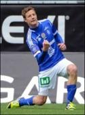 Johan Eklund jublar efter ett av sina tidigare mål. Foto: Anders Thorsell, sundsvallsbilder.se
