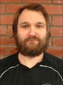 Fredrik Allgren, skäggig lagledare i Sidsjö-Böle IF.