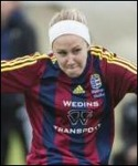 """Josefine Thunholm var en av Selångers fyra målskyttar som sänkte Själevad. """"Jossans"""" volley satte perfekt!"""
