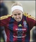 Josefine Thunholm gjorde ett av målen för SFK i helgens träningsmatcher.