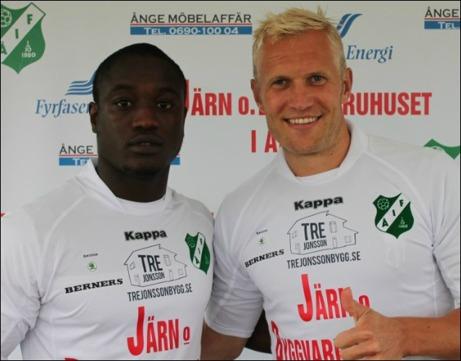 """Saihou """"CH"""" Jagne och Pekka Lagerholm är två prima nyförvärv som skall föra Ånge IF mot div. I."""