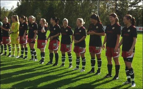 Sunds damer som spelade klubbens senaste div. II-match innan man inför den här säsongen begärde ner sig i Damtrean.