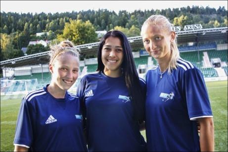 Casey Richards, Renae Cuellar och Sandra Sandberg förstärker SDFF i jakten på förnyat kontrakt. Foto: Kenneth Fahlberg