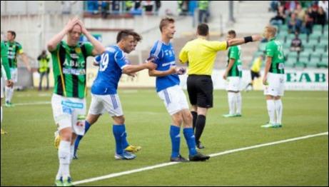Johan Eklund kvitterade till 3-3 för GIF mot GAIS när lagen spelade två målrika kryssmatcher mot varandra inom en vecka. Foto: gifsundsvall.se