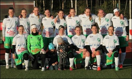 Ånge IF:s historiska damlag som vann direkt i premiären. Foto: Ånge IF:s hemsida.