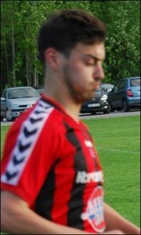 Rasmus Bouvin satte två av IFK-målet mot Matfors. Arkivfoto: Janne Pehrsson, Lokalfotbollen.nu.