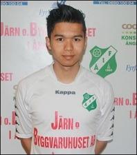 Mehdi Jan, en av Ånges TVÅ fem-målsskyttar mot Fränsta. Mehdi som förövrigt har just FIK som sin moderklubb.