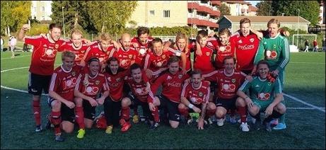 Valbo FF vann division 3 södra Norrland 2014. Lokalfotbollen.nu gratulerar och önskar lycka till i tvåan nästa år. Foto: Valbo FF:s hemsida.