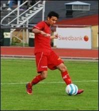 Ferdi Isamili har haft det lite tufft i Stöde men idag var han pigg värre och gjorde ett mål och ett assist. Arkivbild: Janne Pehrsson, Lokal-fotbollen.nu.