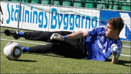 Jonathan Malmberg flyttar upp i Giffarnas A-lag. Foto: gifsundsvall.se.