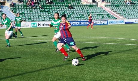 Angelica Lindholm-Forsell har återvänt till Selånger från SDFF. Arkivfoto: Janne Pehrsson, Lokalfotbollen.nu.