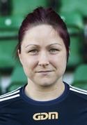 Angelica Lindholm-Forsell satte Selångers samtliga tre mål mot Stensätra. Hattrick alltås!