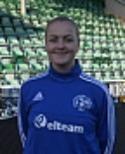 Emma Sjölén gjode en bra match på mittfältet och mål för Heffnersklubban mot Häggenås.