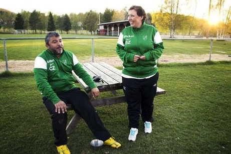 Utan Carlos och Sonja Zavala hade det knappast funnits något damlag i Ljustorp. Foto: Eric Westlund, MittMedia.