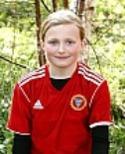 15-åriga Emelie Dahlin var Alnös bästa spelare mot IFK Östersund.