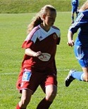 Erika Engblom satte kvitteringsbollen för Alnö i derbyt mot Ånge. Arkivbild.