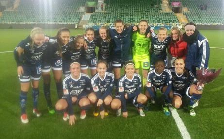 Sundsvalls DFF - Distriktsmästare 2016. Foto: Thomas Åslin för Lokalfotbollen.nu.