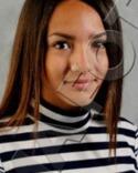 SDFF:s 15-åriga Sara Khamis hoppade in för Östersund, som saknade spelare, och passade på att måla mot sina lagkamrater.