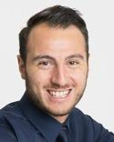 Artagan Keskin nöjd efter sitt 2-0-mål för Granlo - eller om det är för att han precis sålt en fastighet...