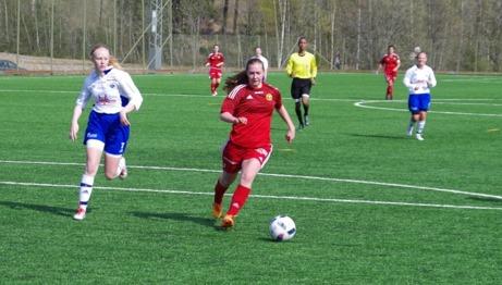 Alnö vann med 1-0 men hade flera chanser på en utökning undeer den andra halvleken. Foto: Lokalfotbollen