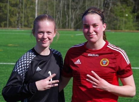 Tilde Sundin höll nollan och Emmie Salomonsson gjorde segermålet när Alnö vann mot Ope. Foto: Lokalfotbollen.nu.