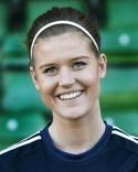 Malin Svelander använde huvudet när hon satte Kovlands segermål i derbyt.