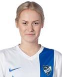 Backen Olivia Olofsson fick spela yttermittfältare och tackade för förtroendet med att göra 2-2-målet.