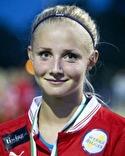 Jennifer Larsson debuterade från start och skall ha all heder för sin kämpainsats trots den stora förlusten.